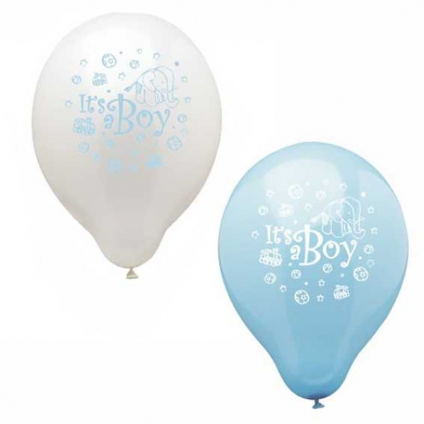 baby geburtstag deko luftballons it is a boy partysternchen online shop. Black Bedroom Furniture Sets. Home Design Ideas