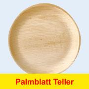 Stabile Palmblatt Teller, ohne chemische Zusätze oder Beschichtung