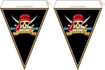 Piraten Kindergeburtstag Partydeko Kostenlos Partysternchen