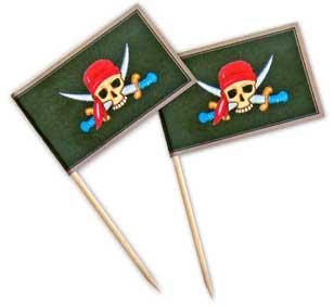 Du Kannst Hier Die Flaggen Für Die Piraten Muffindeko Kostenlos Ausdrucken.  Schneide Die Fähnchen Sorgfältig Aus Und Falte Sie An Der Gestrichelten  Linie.