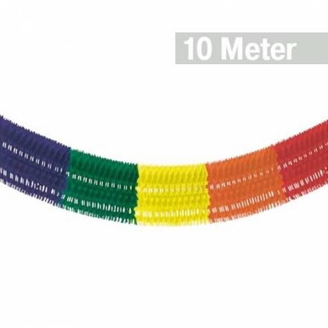 "6 m /""Rainbow/"" Geburtstag Party Deko 10 Girlanden Papier Ø 16 cm"