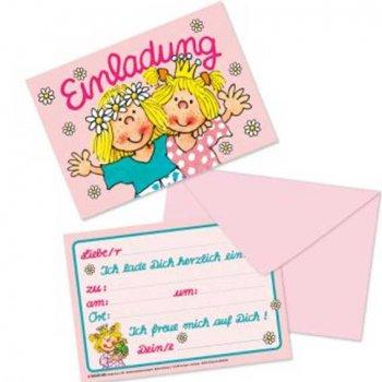 Einladungskarten Kindergeburtstag Prinzessin, 8 Einladungen