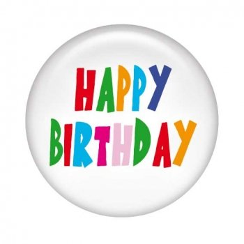 Geburtstagsbutton Happy Birthday