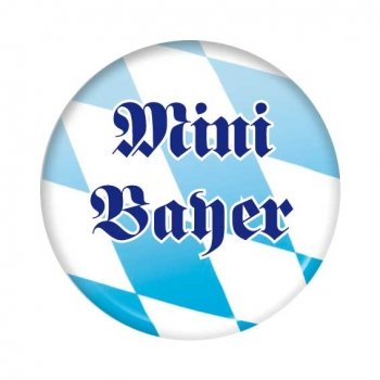 Bayrischer Button: Mini Bayer