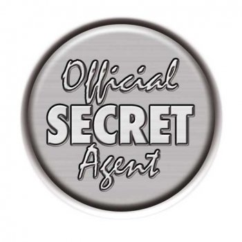 Button: Official secret Agent, Detektivgeburtstag Mitgebsel
