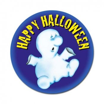 Happy Halloween Button: Gespenst