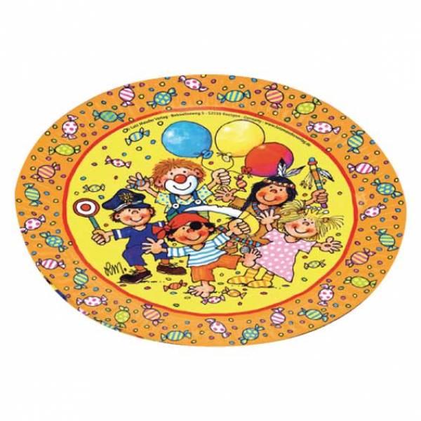 Party kids kindergeburtstag pappteller partysternchen for Kindergeburtstag pappteller