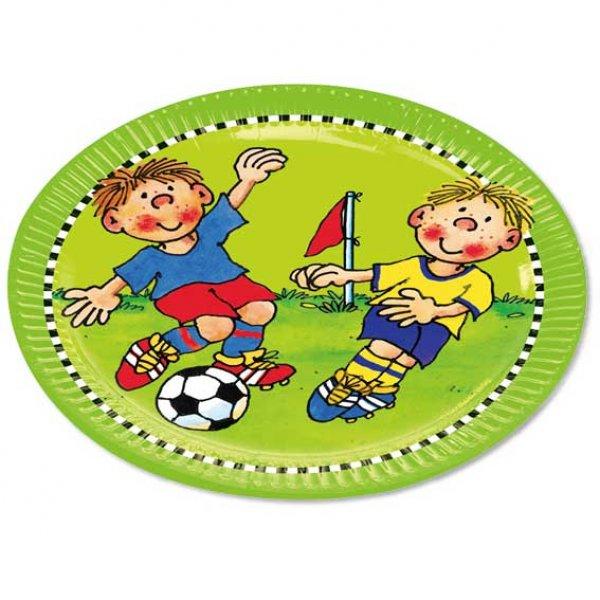Fussball Party Teller 23 Cm 8 Pappteller