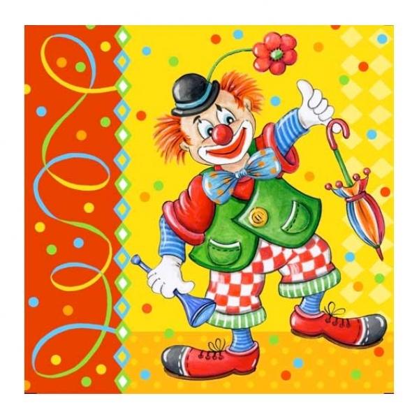 Clown Geburtstag Servietten Partysternchen Partyartikel Versand