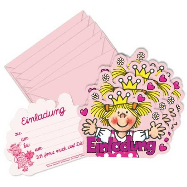 Prinzessin Einladungskarten Partysternchen Partyartikel