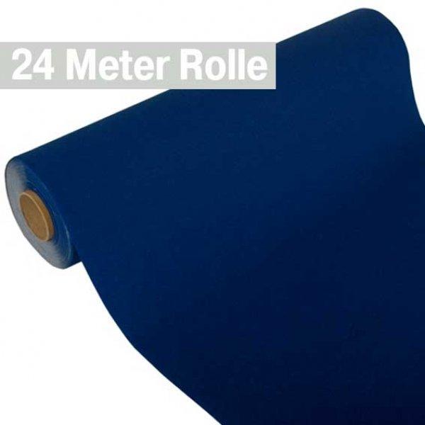 4 Tischläufer Vlies soft selection 24m x 40cm dunkelblau auf Rolle Party Papstar