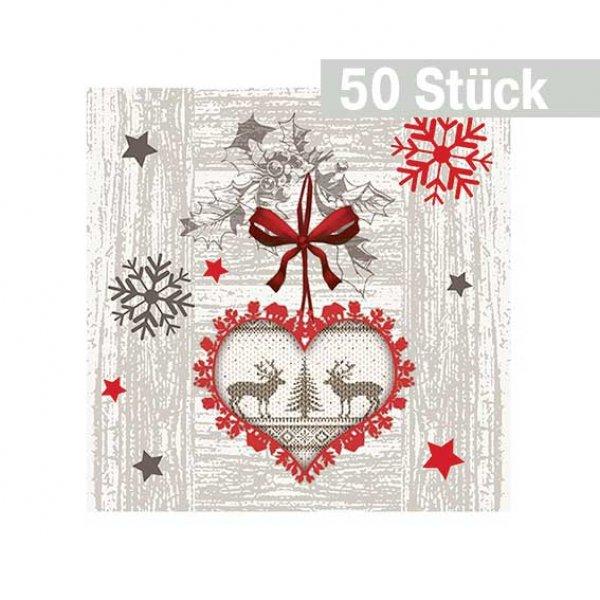 weihnachtsservietten 25 x 25 cm 50 st ck partysternchen partyartikel versand. Black Bedroom Furniture Sets. Home Design Ideas