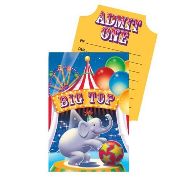 Zirkus Party Einladungskarten Partysternchen