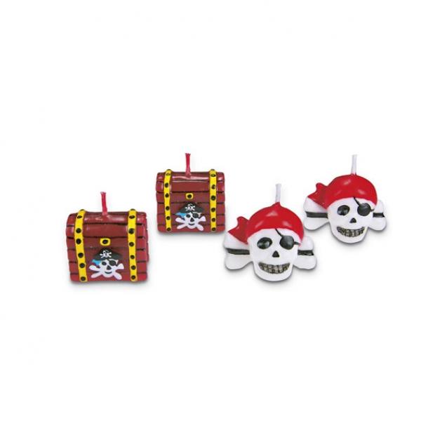 Piraten Geburtstagskuchen Kuchenkerzen Partysternchen Partyartikel