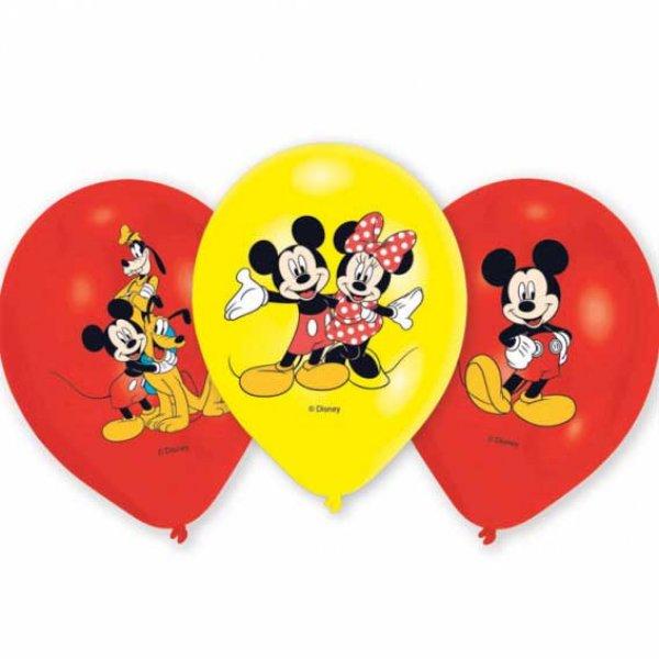 Party Ballons bunt6 StückMickey MouseDisney Micky MausLuftballons