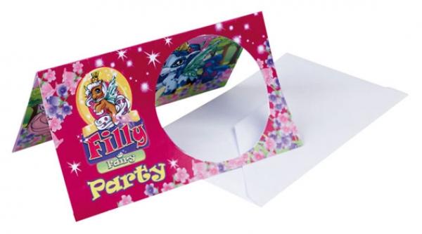 Einladungskarten Filly Fairy Kindergeburtstag
