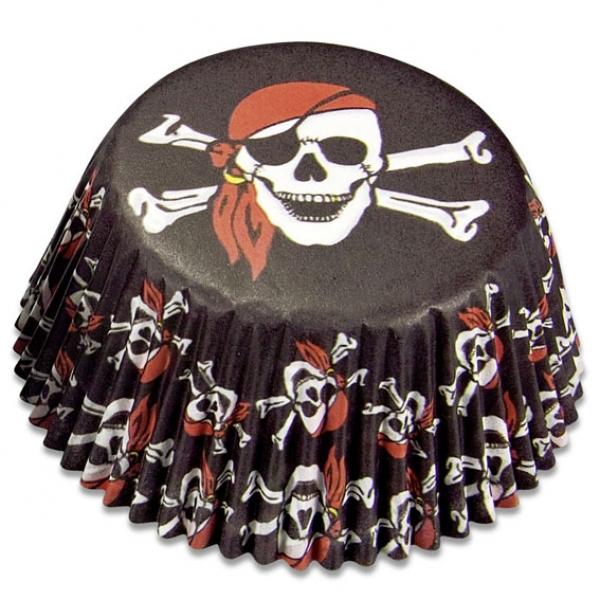 Piratenmuffins Papierformen Partysternchen Partyartikel