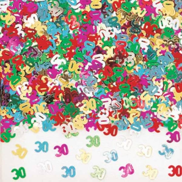 tischdeko zum 30 geburtstag konfetti bunt partysternchen partyartikel versand. Black Bedroom Furniture Sets. Home Design Ideas